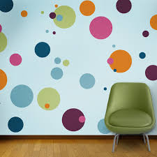 Polka Dot Circle Wall Stencils for Painting contemporary-wall-stencils