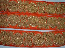Decorative Fabric Trim Yard Orange Decorative Fabric Trim Embroidered Trim