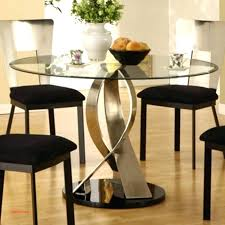 image of white modern round dining table glass set decorating room with