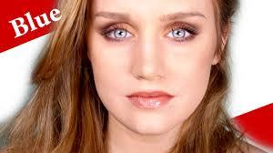 blue deep set eyes makeup tutorial