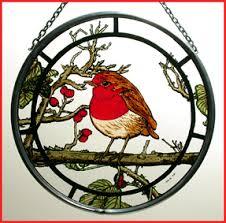 "Winged Heart UK 6"" diameter <b>Bird</b> design Window Roundels"
