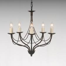 the yarwell collection 5 arm candle chandelier