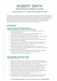 Business Intelligence Analyst Resume Beauteous Free Download Sample Business Intelligence Analyst Resume Samples