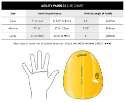 Speed O Guide Size Chart Finis Agility Paddles Size Chart About Aquagear Swim Shop