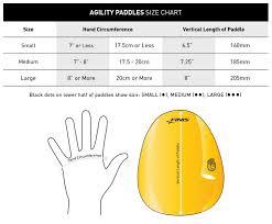 Finis Agility Paddles Size Chart About Aquagear Swim Shop