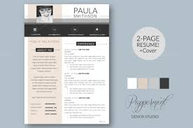 Resume Template + Cover Letter Word | Template, Design Resume And Cv ...