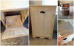wood tilt out trash can bin 2