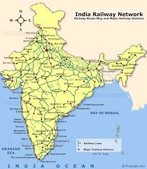 Indian Railway Route Chart 79 Systematic Indian Map Photo Hd