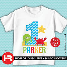Ceer Rating Chart Personalized Under The Sea Birthday Shirt Or Bodysuit Personalized Ocean Sealife Beach Theme Birthday Tshirt