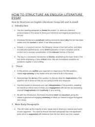 how to structure an english literature essay essays argument  how to structure an english literature essay essays argument topics 15009 literature essay essay medium