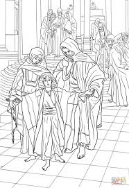 Small Picture 12 Year Old Jesus Found in the Temple coloring page Free