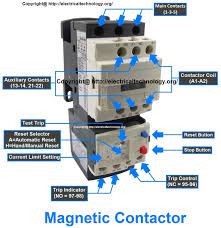 rated characteristics of electrical contactors electro magnetic contactor connection diagram at Contactor And Overload Wiring Diagram