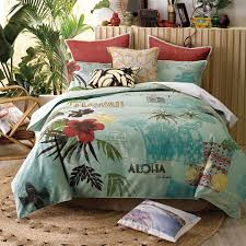 vintage inspired hawaiian quilt cover