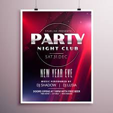 new year s template new years eve party poster template vector free download
