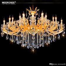 Gorgeous Hotel Kristall Kronleuchter Leuchte Classic Golden Projekt Lüster Kristall Lampe Leuchten Beleuchtung 100 Garantie