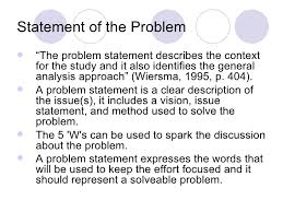 Research Problem Statement Examples How To Write Problem Statement In Research Proposal Papers