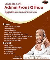 Lowongan jasa tenaga kerja di bandung. Lowongan Kerja Admin Front Office Info Lowongan Kerja Sukabumi 2021