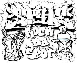 Spray Can Graffiti Teenagers Coloring Page Free To Print Abstract
