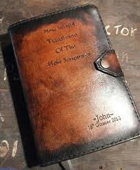 handmade jw leather cover for new world by jumbuckwrangler