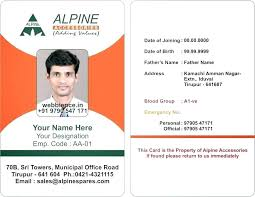Id Card Template Free Download Employee Vertical Psd