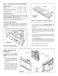 step 7 installing logs and ember material step 8 installing trim surrounds heat glo fireplace heat n glo fb in user manual page 21 23