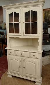 corner cabinets dining room: reclaimed vintage white shabby chic cottage painted corner hutch china cabinet cupboard  via corner cabinets dining roomcorner