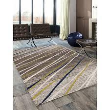 kalora 5098 8v40 camino diagonal blue green ribbons area rug
