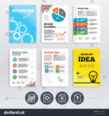Brochure Design A 4 Flyers File Refresh Stock Vector Royalty Free