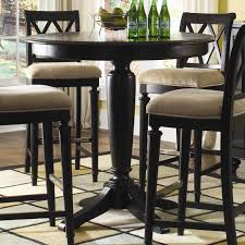 round bar table black