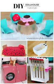 diy dollhouse furniture. There Are Some Amazing Ideas Out There, And You Could Really Turn A Dollhouse Into Hours Of Creative Construction Then Play. Diy Furniture I