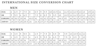 Footjoy Size Guide