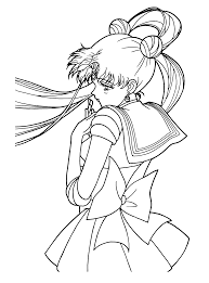 Small Picture Sailor Moon Coloring Pages 5 Colouring Pictures Within Sailor Moon