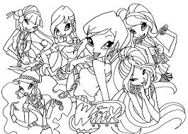Small Picture Great Winx Club Coloring Pages 50 On Free Colouring Pages with