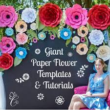 Flower Templates For Paper Flowers Giant Paper Flowers Paper Rose Templates Set Of 5