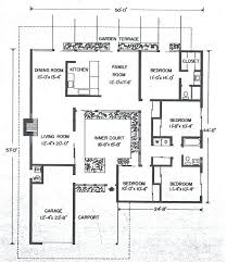 mid century modern house plans. Mid Century Modern Floor Plans Image Gallery Of Awesome 4 House Courtyard
