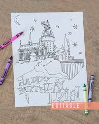 Printable Harry Potter Coloring Page Harry