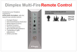 dimplex multi fire remote control