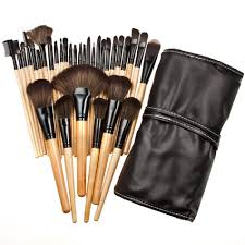 whole 2016 new professional makeup brush set pro cosmetics studio pro makeup make up cosmetic brush set with leather case best makeup makeup box from