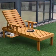 modern wood chair. Giantex Patio Chaise Sun Lounger Outdoor Furniture Garden Side Tray Deck Chair Modern Wood Beach Lounge