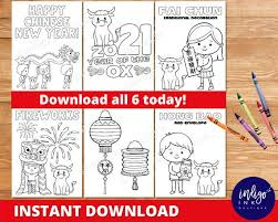 What does the ox symbolize? Chinese New Year Coloring Pages Instant Download 2021 Year Of The Ox Coloring Sheets Chinese New Years Printable By Indigo Ink Boutique Catch My Party