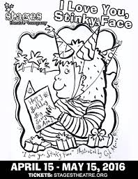 Coloring Sheet For I Love You