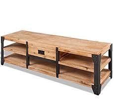 Industrial TV Stand Vintage Rustic Furniture Large Metal Cabinet Low  Storage Sideboard Retro Solid Wood Bench Rustic Industrial Tv Stand R77