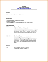 Day Care Worker Resume Examples Sample For Child With No