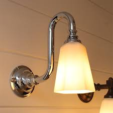classic bathroom wall light with gooseneck