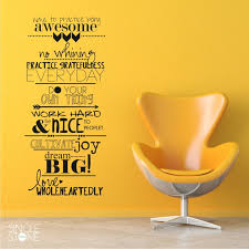 awesome family rules wall decals