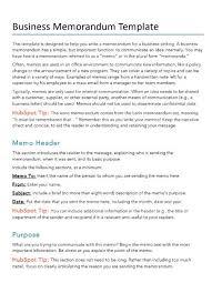 Memorandum Samples Templates Free Project Management Pdf Word Template Hubspot