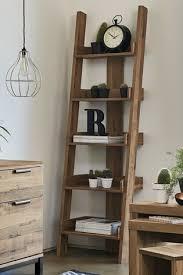light oak effect bronx ladder shelf