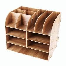 desk tidy. Perfect Tidy Image Is Loading LesfitMultifunctionalCoolModernDeskOrganiser WoodenStationary In Desk Tidy F
