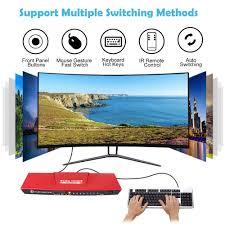 <b>KVM</b> Switch 4 Port USB2.0 <b>KVM</b> HDMI Switch Hotkeys HDMI Switch ...