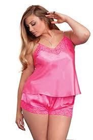 plus size short sets icollection womens plus size satin and lace cami and short set